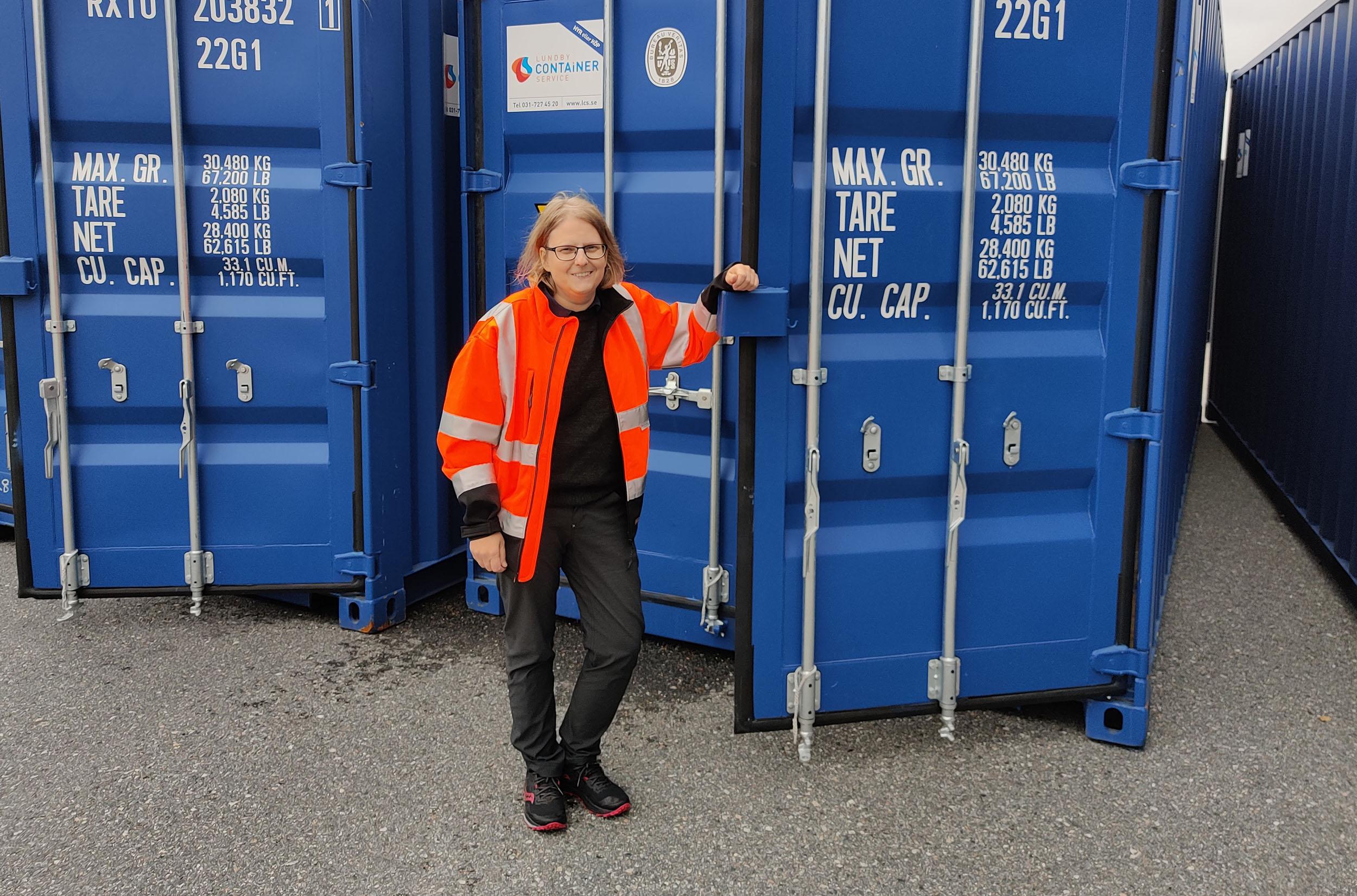 Matilda Eriksson på Lundby Container Service